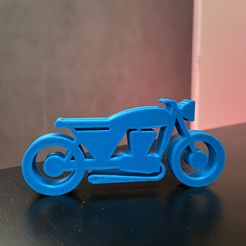 Fichier_000.jpeg Download free STL file Motorcycle cafe racer 2D • 3D print object, HuV