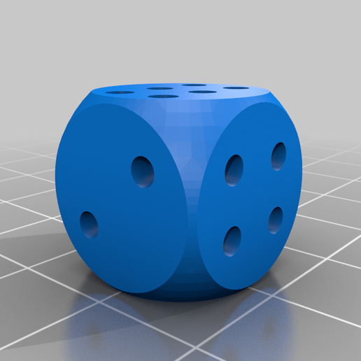 Dice1normal.png Download free STL file Cheating Dices - non-laplacian dices • 3D printable template, plokr