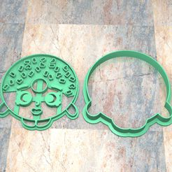 CyS_D_Shopkins_002.jpg Download STL file COOKIE STAMP/CUTTER. COOKIE CUTTER/STAMP COOKIE DOUGH FONDAN. SHOPKINS_002 • 3D printable template, Centenario3D