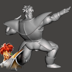 Reecoom.PNG Download free STL file Recoome - Dragon Ball Z - Ginyu Forces 5/5 • Object to 3D print, vongoladecimo
