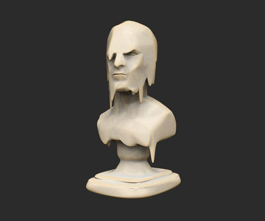 MeltyFaceBust.jpg Download free STL file Various Cthulhu Props x25 • 3D printing object, CharlieVet