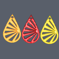 sunlight.png Download free STL file Sunlight earrings • 3D printing object, IdeaLab