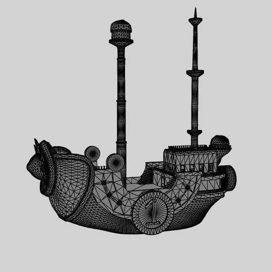 bateau3.jpg Download OBJ file Boat Thousand sunny One piece • 3D printing object, edgehug