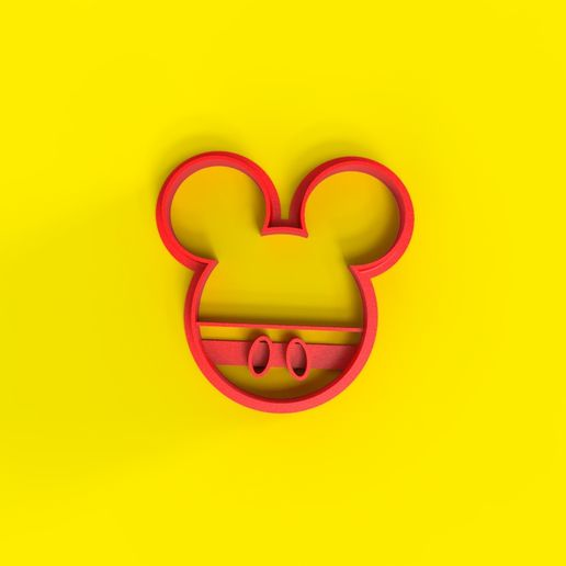untitled.14.jpg Download STL file Mickey   Cookie cutter • Model to 3D print, Trimenta3D