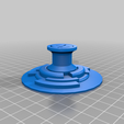 Vers_A_Right_Side_GC_knob.png Download free STL file Gorra de geocaching para Letter-Cryptex • 3D printer object, Binguin