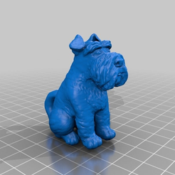 6814c9659745e525ef42215a71a56ae7.png Download free STL file Schnauzer with tail • Design to 3D print, Fisk400