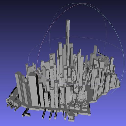 f8861cbeece2034f35a29c08e1cb2b5d_display_large.jpg Download free STL file Lower Manhattan Cityscape • 3D printing model, LydiaPy