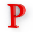 P2.png Download free STL file Letras / abecedario completo • Object to 3D print, Lubal