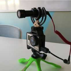 GoPro Hero Frame w Hot Shoe Mount5.jpg Download free STL file GoPro Hero Frame w Hot Shoe Mount • 3D printer object, DanielNoree