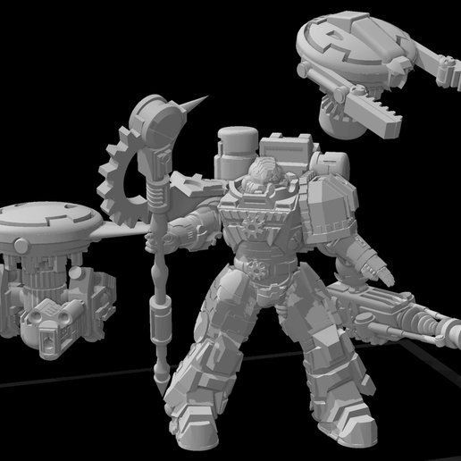 Preview.png Download free STL file Gue'Ron'Vesa - Techmarine Upgrade Kit - Additional parts • 3D printer design, El_Mutanto