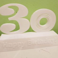 20190123_183549.jpg Download free STL file Happy 30th Birthday Sculpture with gyroscope • Template to 3D print, Tom_le_Belk