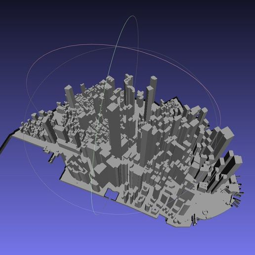 a2fcab6dd143ab9a4e3d4f887cba13e8_display_large.jpg Download free STL file Lower Manhattan Cityscape • 3D printing model, LydiaPy