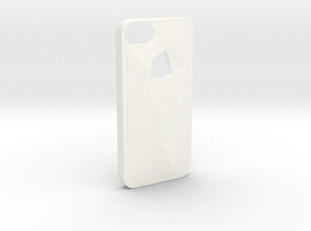 v1.jpg Download free STL file Faceted iPhone 5/5s Case - Version 1 • 3D printer template, Fischfluous