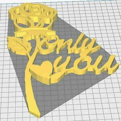 Rose-Only-you.jpg Download STL file Rose Only You • 3D printer object, antho52