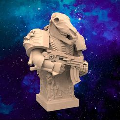 TS01.JPG Download free STL file Thousand Son Chaos Bust • 3D printer design, BigMrTong