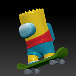 among_us_bart_a_s.png Download free STL file AMONG US - BART SIMPSON • 3D printer model, Chamunizu