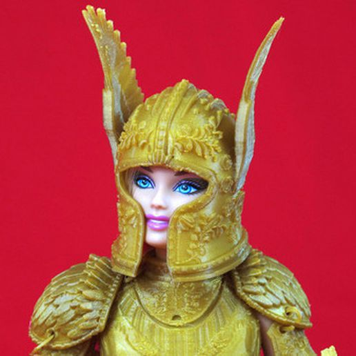 2.jpg Download STL file Faire Play Armor for Barbie • 3D print template, Zheng3