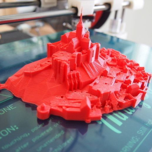 P7176879_preview_featured.jpg Download free STL file Mont Saint Michel • 3D printable model, Cults