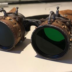 Goggles.jpg Download free STL file Steampunk Goggles • 3D printer object, cmoore1