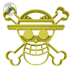 One-Piece-Skull-6cm.png Download STL file Logo - One Piece - Cookie Cutter - Fondant - Polymer Clay • 3D printing model, Cambeiro