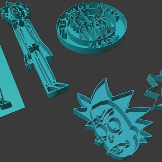 Screenshot (40).png Download free STL file Rick & Morty Cookie Cutters • Template to 3D print, nikkblandford22