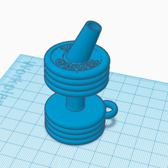 Shisha.png Download STL file Shisha/Hookah Mouthpiece Weight • 3D print model, victorteodosiev