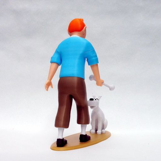 tintin_back1.jpg Download free file Tintin and Snowy • 3D printable template, reddadsteve