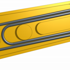 pull.PNG Download free STL file Zipper Pull using paperclip • 3D printable template, ScubaScott