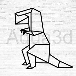 dino 5.png Download free STL file Wall decoration Dinosaurs origami • 3D print design, alexis6251062510