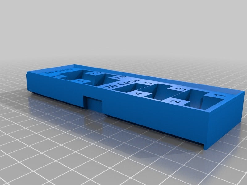 9a4fa282775947aa10817a76e82fd7f2.png Download STL file Euro/Cent coin organizer • 3D printable object, BePrint