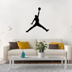 jordan.jpg Download STL file Michael Jordan Wall • 3D printer model, LCdesign