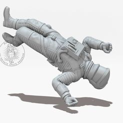 Bildname0037.jpg Download free STL file THE DEATH ASTRONAUT • 3D printing template, MaxGrueter