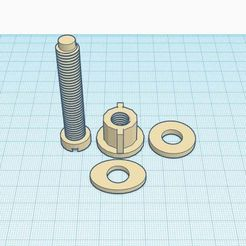 toilet_set_bolt_set.jpg Download STL file Toiler Seat Bolt Set • 3D printing object, Simple_Designs