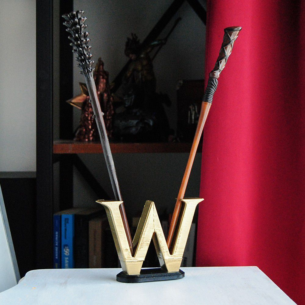 1.JPG Download OBJ file FRED & GEORGE WEASLEY WAND WITH DISPLAY • Template to 3D print, tolgaaxu