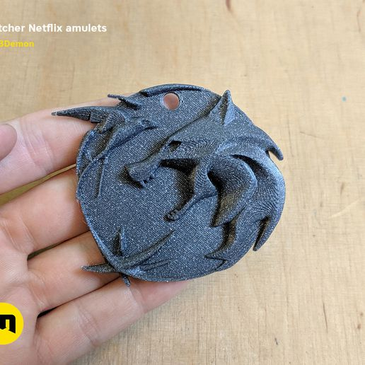 witcher-netflix-amulet-photo.jpg Download OBJ file Witcher Netflix amulets  • 3D print object, 3D-mon