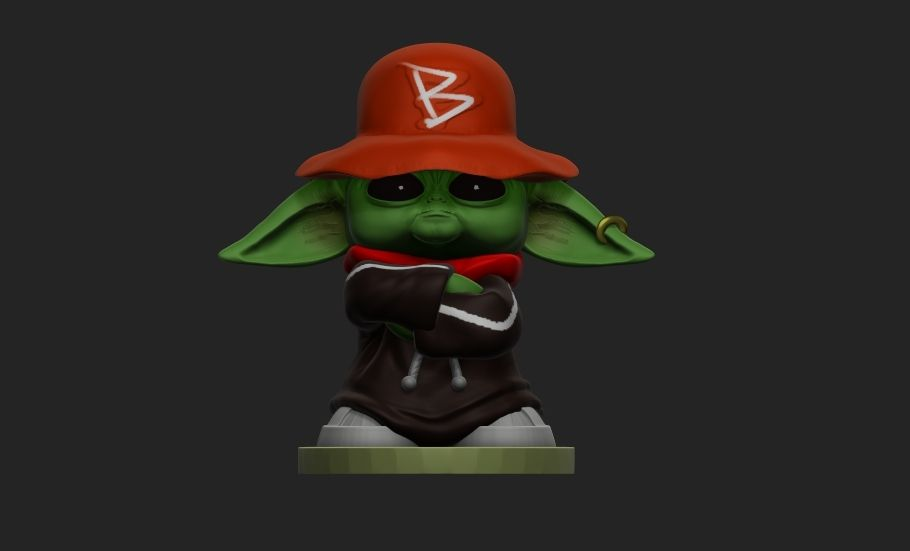 Y1.jpg Download file Yoda-B-Boy Stance -HIP-HOP Collect • 3D printing object, ilustrartuel