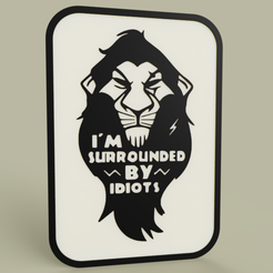 be3c9599-05bb-4256-bbe1-a3a66b2fc6dd.PNG Download free STL file Lion King - Disney - Scar - I m surrouded by idiots • 3D printing object, yb__magiic