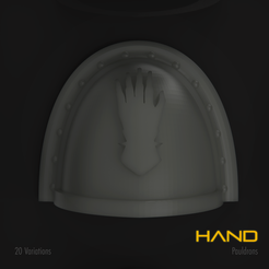 Hand1.png Download STL file Hand Space Marine Pauldron Pack • 3D printer template, hpbotha