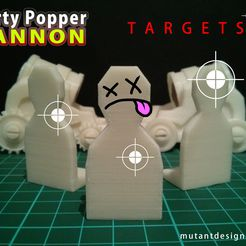 Party_Popper_Cannon_-_Targets_Title.jpg Download free STL file Cannon Fodder for Party Popper Cannon • 3D printer model, MutantDesign