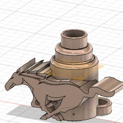 Boquilla-mustang.png Download STL file Mustang mouthpiece • 3D print template, n3coid
