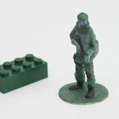 Gas_soldier.jpg Download free STL file Gas mask soldier on stand • 3D printing template, Steyrc