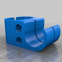 FC-horizontal-accessories30mm.png Download free STL file Intex Quadra Frame Pool Clamps / Mounts / Halterungen for Accessories / Zubehör • 3D printable model, faschi