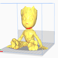 1.png Download STL file Groot Figur sitzend • 3D print design, brs-design
