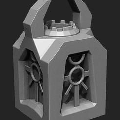 renderTowe1.png Download STL file Warhammer Necron Small Towers • 3D print template, krasiivel