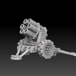 nebelwerfer-sidefront.jpg Download STL file Nebelwerfer Artillery • 3D printer model, SharedogMiniatures