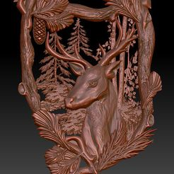 20.jpg Download free STL file Deer cnc router in the forrest frame • Design to 3D print, Terhrinai