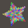 solution_colour.png Download free STL file Twinkle All the Way Star Puzzle • Design to 3D print, voidbubble