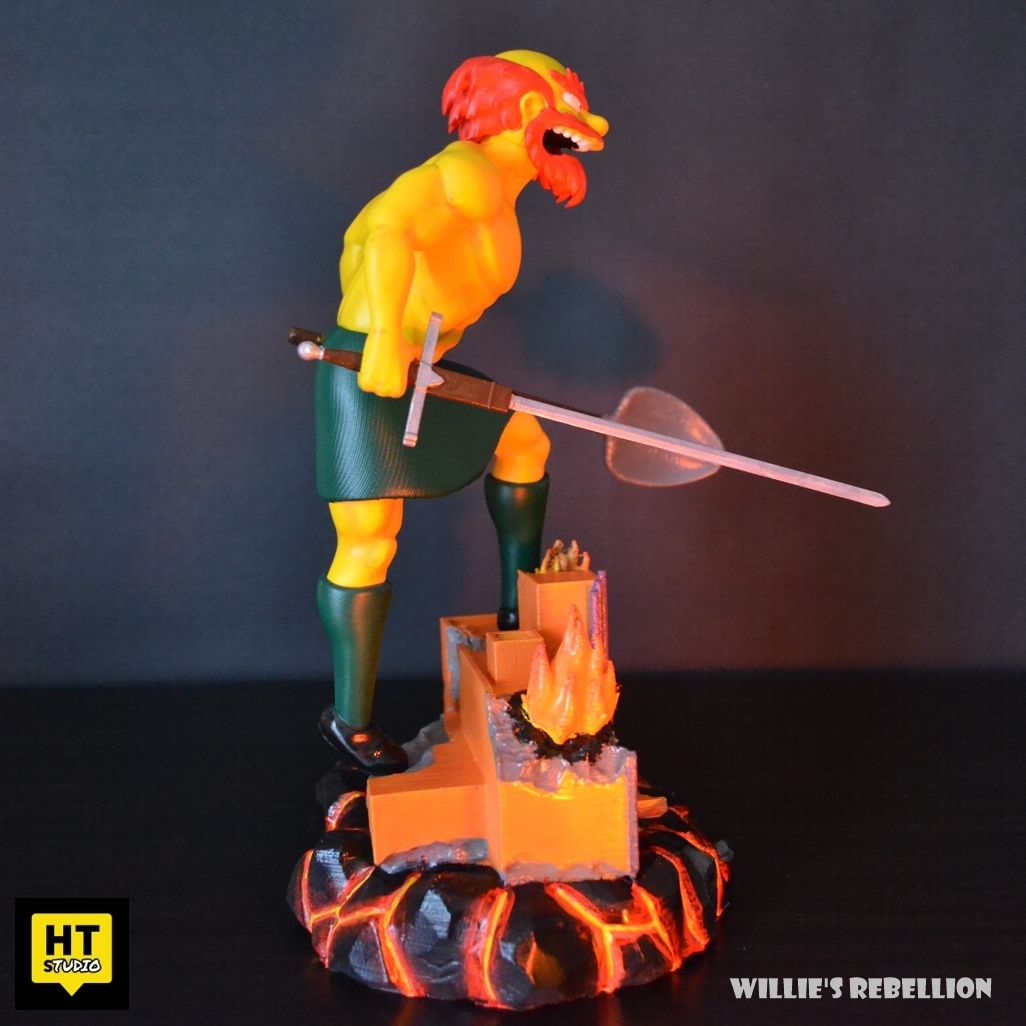 WillieFR2.jpg Download STL file Willies Rebellion The Simpsons Fan Art • Template to 3D print, HTBROS