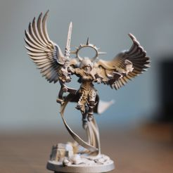 Download free STL file Undying Saint with wings • 3D printing object, alvaropinot