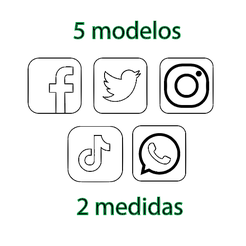 Sin título.png Download STL file social media cookie cutter icons • 3D printing template, 3dcookiecutter